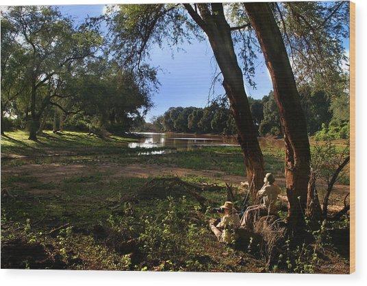 Limpopo River Delta  Wood Print