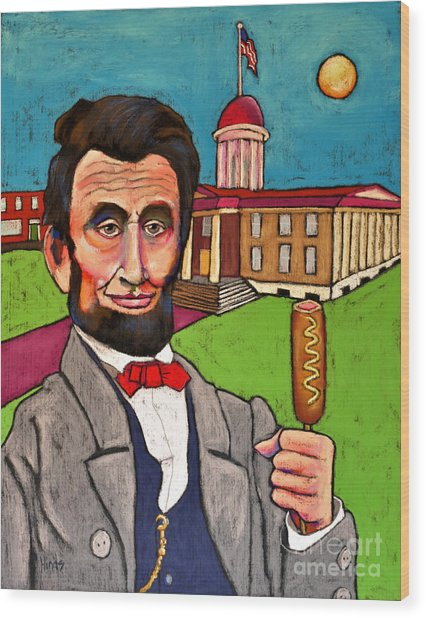 Lincoln At The Capitol Wood Print