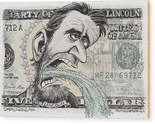 Lincoln Barfs Wood Print