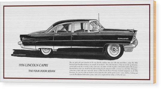 Lincoln Capri 1956 Wood Print