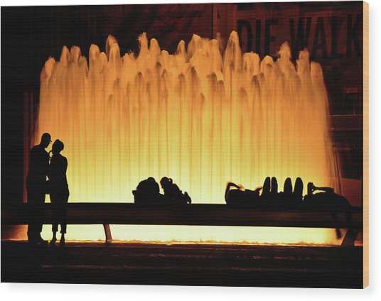 Lincoln Center Fountain Wood Print