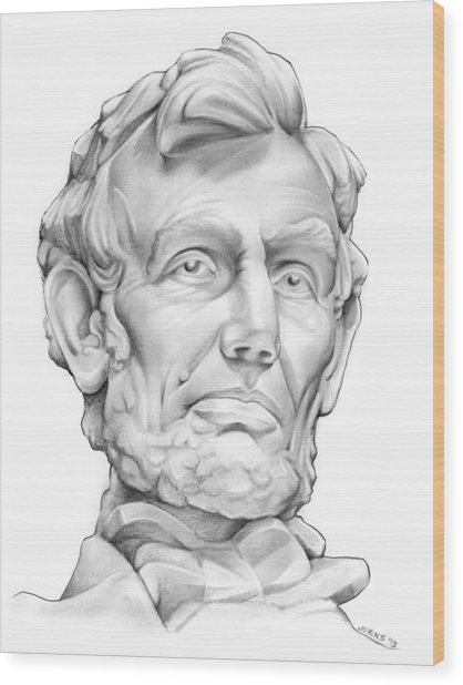 Lincoln Wood Print