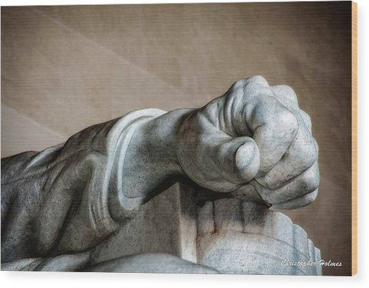 Lincoln's Left Hand Wood Print