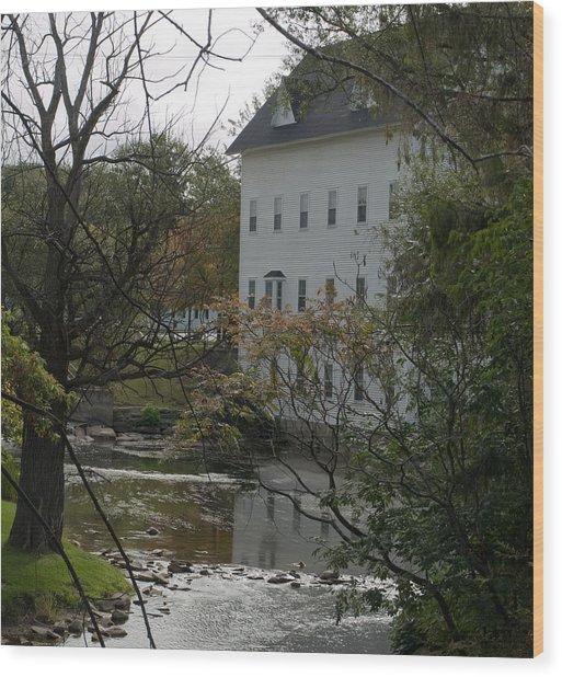Linden Mill Pond Wood Print