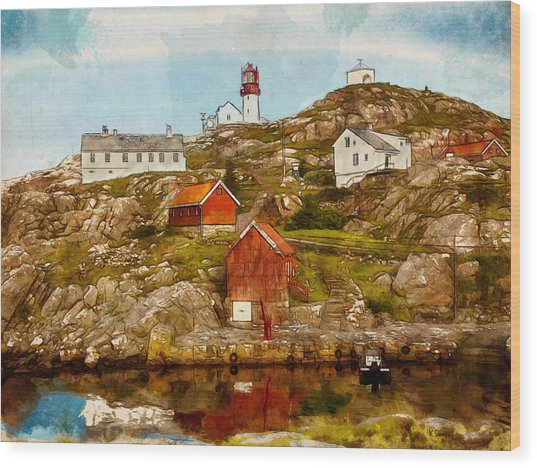 Lindesnes Lighthouse Wood Print