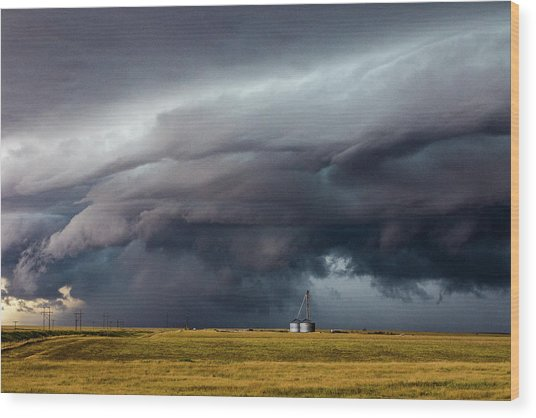 Lindon Colorado Storm Wood Print by David Brown Eyes