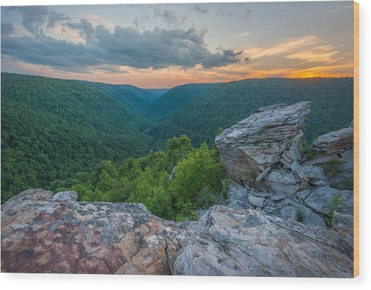 Canaan Valley West Virgina Lindy Point Sunset Wood Print