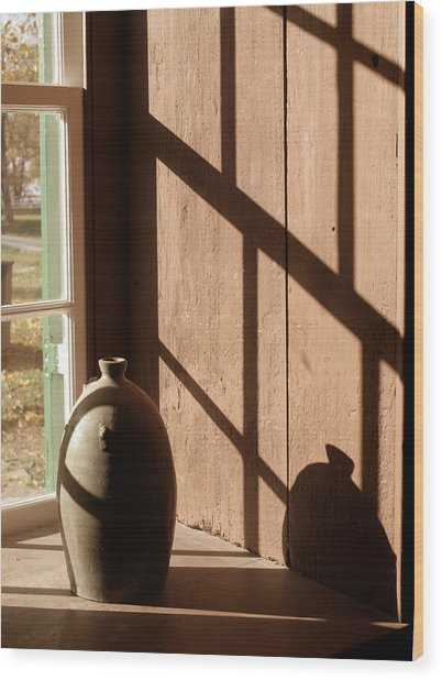 Linear Shadows Wood Print by Angie Bechanan