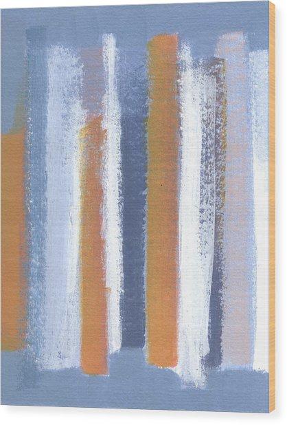 Lined 2 Wood Print by Alice Kirkpatrick