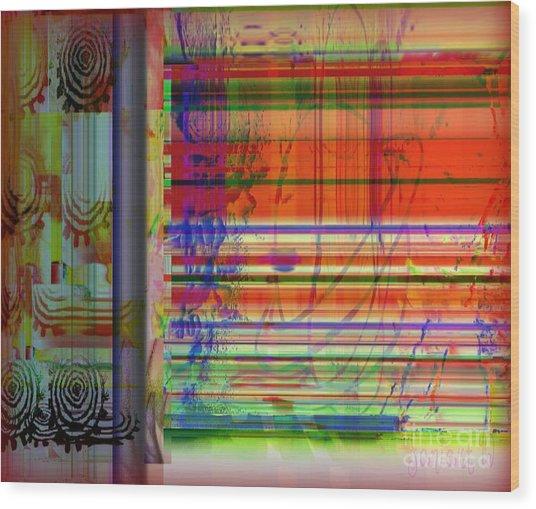 Lines Of Illusion Wood Print by Fania Simon