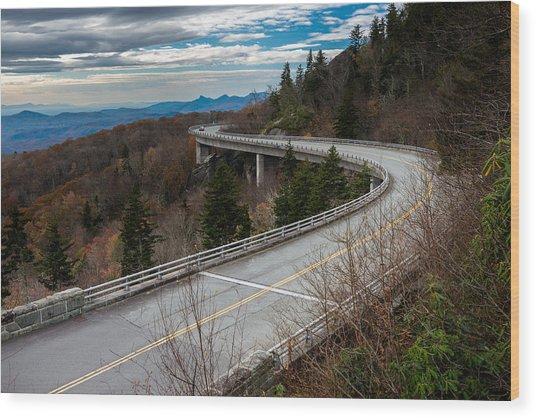 Linn Cove Viaduct Late Fall Wood Print