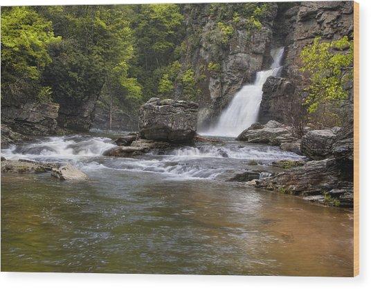 Linville Falls Basin Wood Print