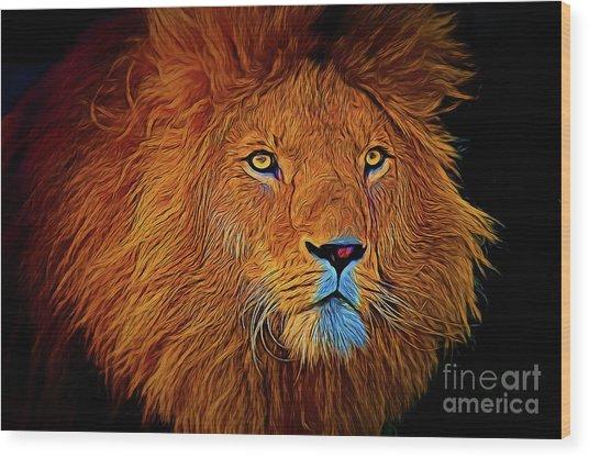 Lion 16218 Wood Print