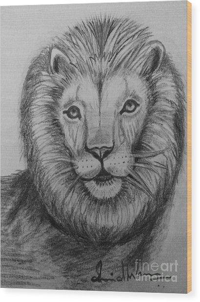 Lion Wood Print
