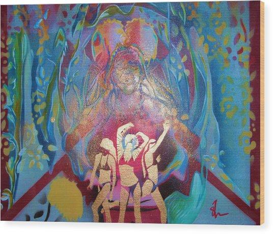 Lion Dance Wood Print by Dorian Williams