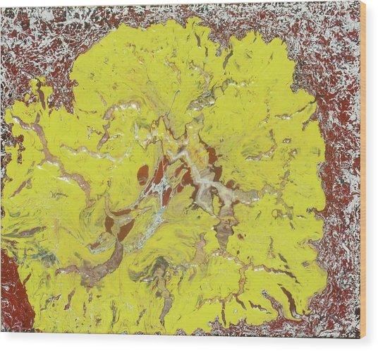 Lion Flower Wood Print
