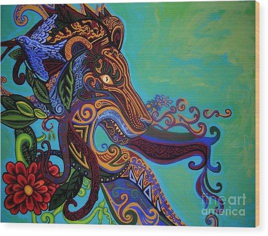 Lion Gargoyle Wood Print