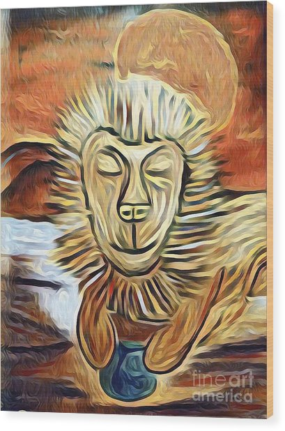 Lion Of Judah II Wood Print