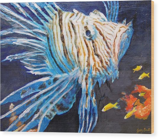 Lion Of The Sea 2 Wood Print