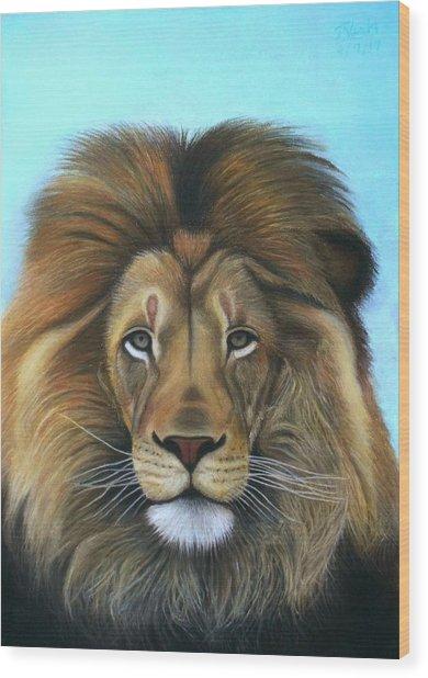 Lion - The Majesty Wood Print
