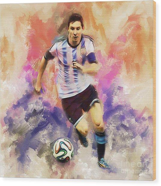 Lionel Messi 094c Wood Print