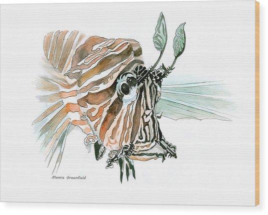 Lionfish Wood Print