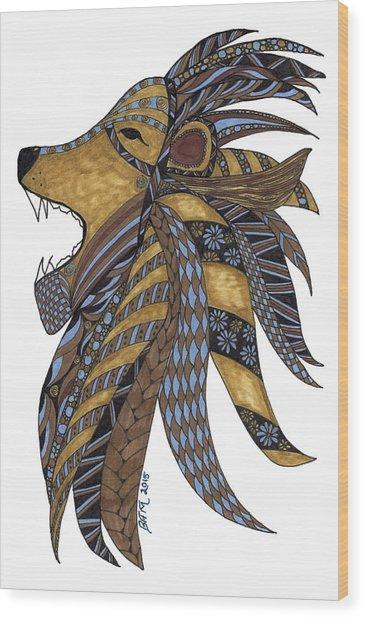 Roar Wood Print