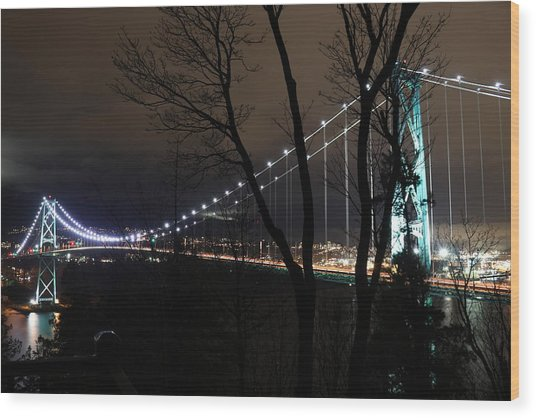 Lions Gate Bridge Wood Print