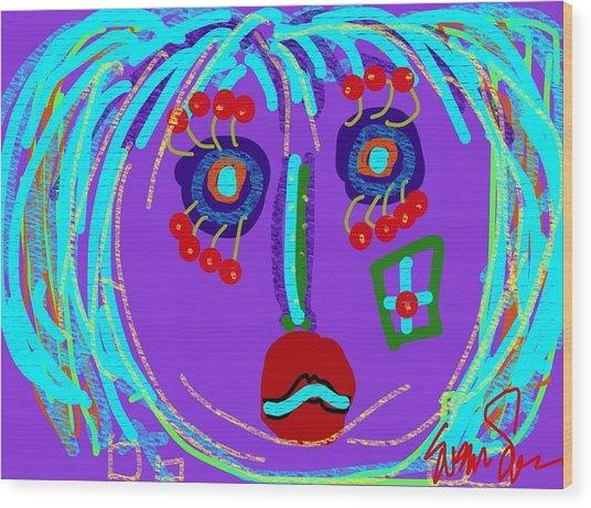 Lippy Girl Wood Print