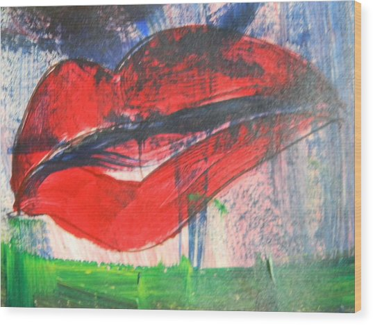 Lipstick - Sold Wood Print