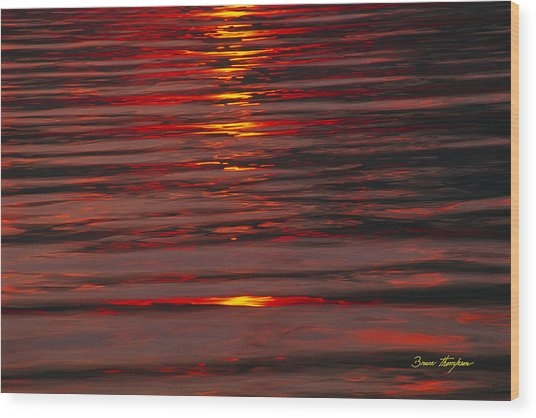 Liquid Sunset - Lake Geneva Wisconsin Wood Print