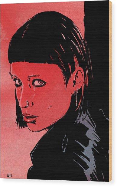 Lisbeth Salander Mara Rooney Wood Print