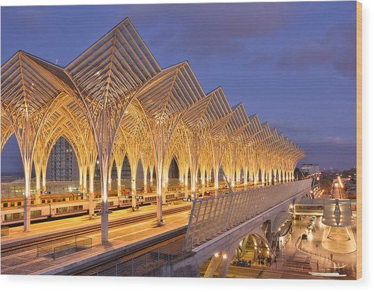 Lisbon Gare Do Oriente Wood Print