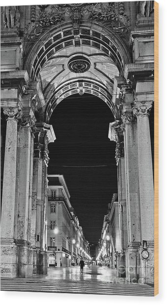 Lisbon - Portugal - Triumphal Arch - Rua Augusta Wood Print