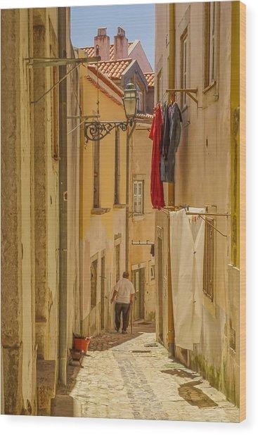 Lisbon Street # 1 Wood Print