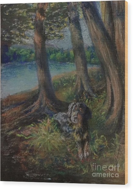 Listening To The Tales Of The Trees Wood Print