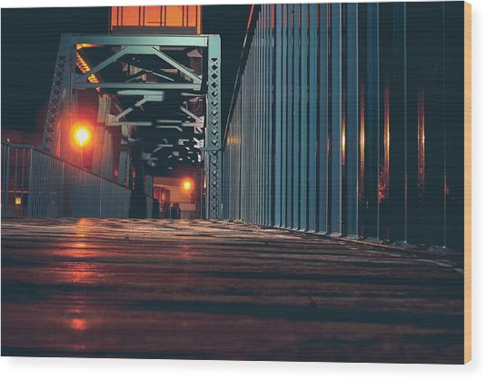 Wood Print featuring the photograph Lit Up by Viviana  Nadowski