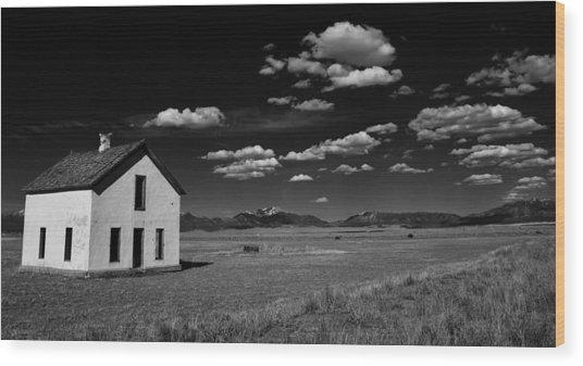 Little Abandoned House On The Prairie Wood Print