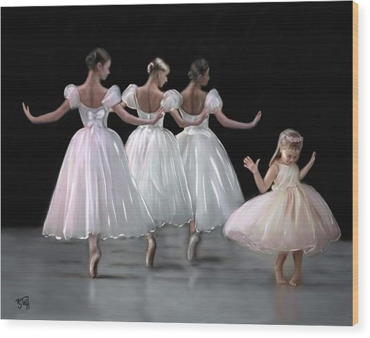 Little Ballerina's Dream Wood Print