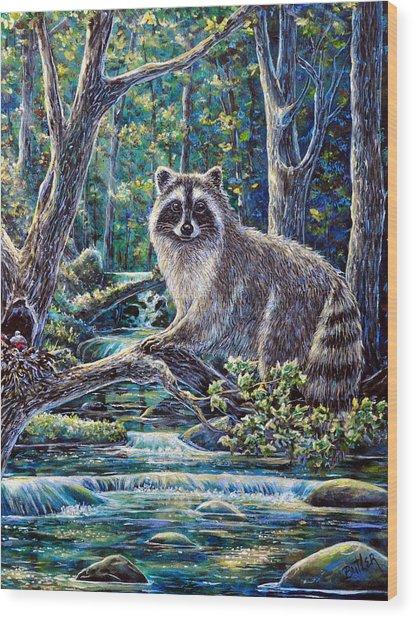 Little Bandit Wood Print