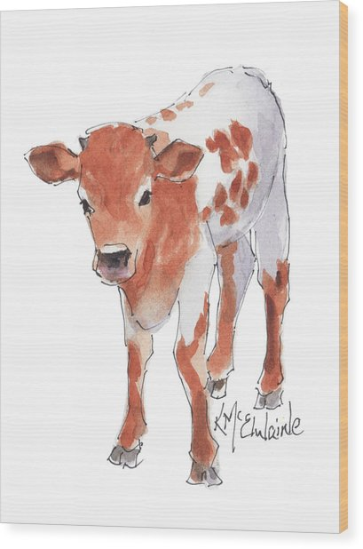 Little Beau April 2017 By Kathleen Mcelwaine Wood Print