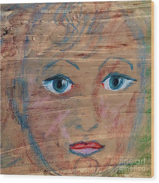 Little Boy Blue Wood Print