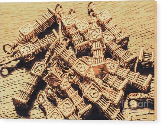 Little Britain And Big Ben Wood Print