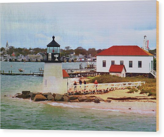 Little Cape Light Wood Print by JAMART Photography