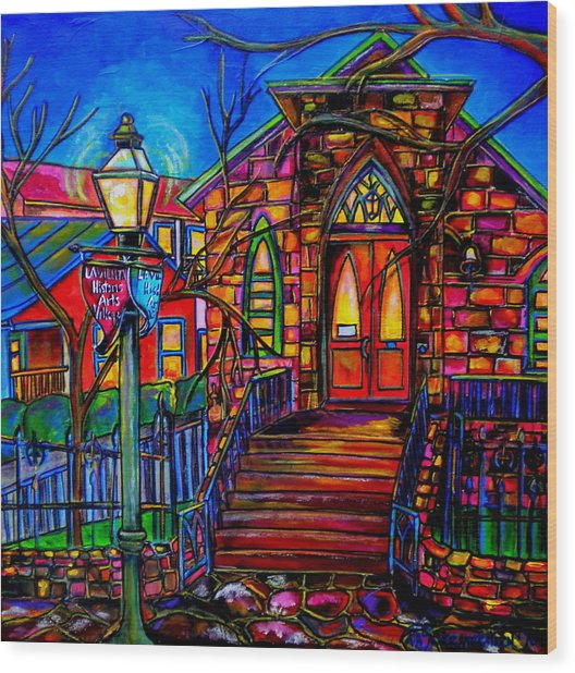 Little Church At La Villita II Wood Print