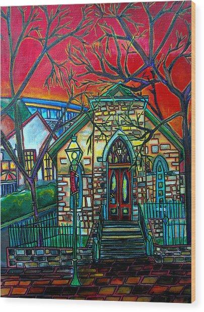 Little Church At La Villita Wood Print