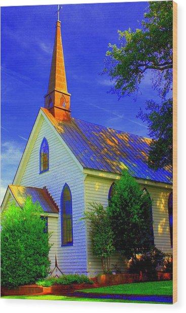 Little Church Wood Print by Jill Tennison