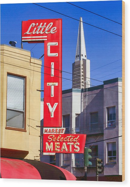 Little City Market North Beach San Francisco Wood Print