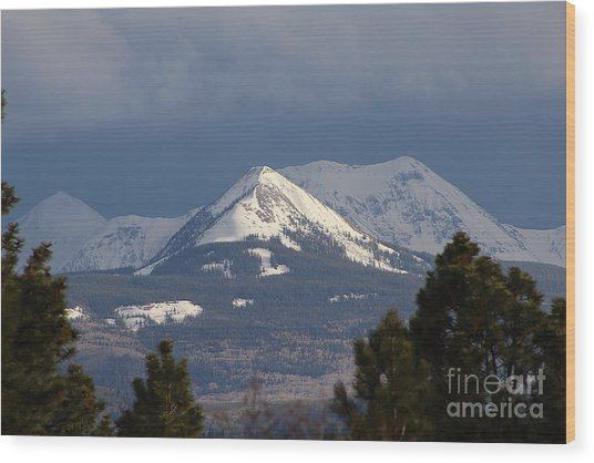 Little Cone Peak Colorado Wood Print