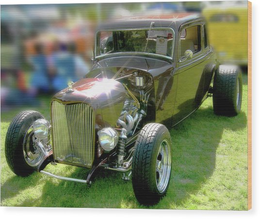Little Deuce Coupe In Root Beer Brown Wood Print